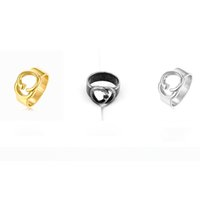 New Arrival Titanium Steel Letter Ring Women Letter Finger R...