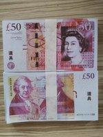 Nightclub Bar Britisch United Kindom Banknoten 50 Pfund Hinweis zur Sammlung oder Business-Geschenke Requisiteur- und Fake-Geldpapier GBP-Preise Rechnungen 08