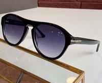 Caja piloto sombreado gafas de sol gafas de sol Austin Negro / Azul Sol Gafas con de alta calidad Vintage Sonnenbrille FT0677 Hombres Ujkra