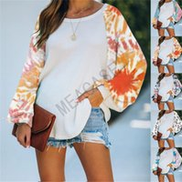 Blouses Tie-dye Femmes Patchwork Pull Hoodies Mode Femmes oversize manches longues encolure ras du cou T-shirts Sweatshirts Boutique ClothesD81104