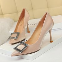 Bigtree Chaussures pour femmes concepteur pompes femmes strass chaussures talons hauts grande taille sexy talons mode mariage 2020