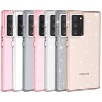 Shiny Rugged Hybrid TPU PC Glitter Powder Shockproof Clear Armor Case For iPhone 12 11 Pro XR XS MAX X 8 7 6 Plus Samsung S20 Note 20 Ulta