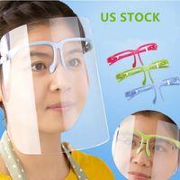 EU Stock Limpar protetor facial máscara protetora de tela de plástico Proteção Facial Isolamento Mask Anti-fog óleo protetor Chapéu do protetor