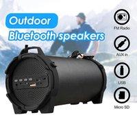 Açık Bluetooth Kablosuz Taşınabilir Spor Subwoofer Hoparlör Stereo Soundbar Masaüstü TFCard MP3 Çalar Caixa De Som
