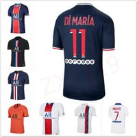 2020/21 Mbappe Paris Soccer Jersey Tous Unis # 9 كافاني سرابيا موحدة البقاء قوية الصين Icardi di Maria Choupo Moting 4th Football Shirt