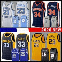 Laney School Michael 23 JD Basketball Jersey Indiana State University NCAA Larry 33 Vogel Valley High Charles Barkley 34 Vince Carter 15