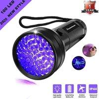 Taschenlampen Fackeln Hohe Qualität Schwarzes Licht UV 100LED 21LED 12LED 395-400NM LED-Detektor für Hundeurin, Haustierflecken und Bettwanze