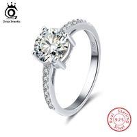 Anillo de circonio cúbico cuadrado de lujo, anillos de plata de moda con platino plateado, 925 anillos de joyería de plata esterlina al por mayor SR56