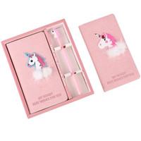 핑크 소녀의 마음 노트북 유니콘 몇 플라밍고 노트북 세트 인 한국어 버전