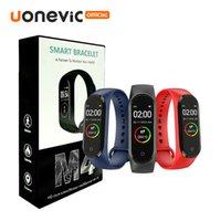 Android akıllı İçin M4 Akıllı Bileklik Bilezik Spor Tracker İzle Sport Nabız Tansiyon Smartwatch 0.96 inç bant