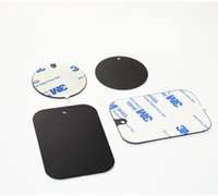 vente Hot Metal Plate Universal Kit de remplacement de la plaque en métal avec adhésif magnétique Voiture Support Aimant voiture téléphone mobile stand