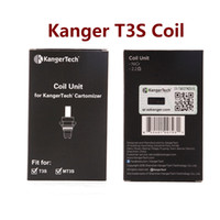 Otantik Kangertech MT3 T3S Bobin Ünitesi Kanger CC Temizle Kartomizer Atomizer Yedek Bobinler Kafa 1.5 1.8 2.2 2.5 Ohm