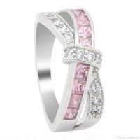 H Виктория Вика новых женщин ювелирных изделия способ 10kt белого золота Заполненных Мульти -Gemstones принцесса C Cz Алмазная Обручальные девушки пояса кольцо для