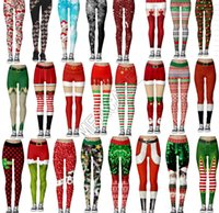Christmas Santa Women's Leggings Stretch tight Pants Sports Yoga Jogging Long Trousers pencil Pant Skinny Playsuit Boutique Clothing D9104