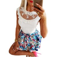 New Women Blouse Fashion Leopard Print Hollow Out Bandage Shirt Top Woman Summer Sleeveless Sexy Lace Patchwork Slim White Shirt