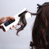 اللاسلكي التلقائي الشعر بكرة الشعر الحديد اللاسلكية الشباك الحديد USB قابلة للشحن الهواء بكرة لتجعيد الشعر موجات شاشة LCD السيراميك مجعد J2356