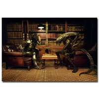 """NICOLESHENTING Alien vs Predator 3 Spiel-Schach Movie Art Silk Plakat-Druck 12x18 24x36"""" Wandbilder Raum-Dekor 011"""