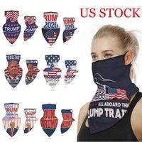Nuevo 16 diseños 2020 Trump triángulo bufandas mágicas que Estados Unidos sea de nuevo por el presidente EE.UU. Donald Trump Elección al aire libre Las vendas FY6070