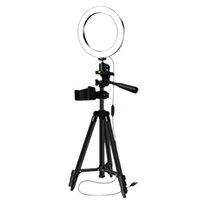 Мигает штатив Selfie Stick с кольцом заполнить свет дизмеруемый светодиодный лампа студии камеры PO телефонного видео