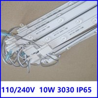110V 240V 3030 LED Bar Lights Strip Diffuse Reflection 10W Cold White Lattice Backlight with Lens
