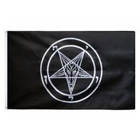 3x5 FTS Eglise catholique romaine templiers pentagramme Baphomet drapeau de Satan Impression Polyester Amérique États-Unis Volant Hanging 5x3 Drapeau Bannière
