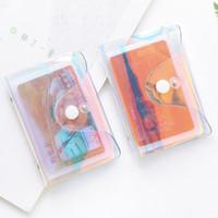 Moda Lazer Şeffaf Fonksiyon 20 Bit RFID Kimlik Banka Kartı Vaka İş Tutucu Kadınlar Erkekler Kredi Pasaport Çanta Cüzdan Çanta