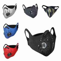 Maschera sport esterni antipolvere per la guida impermeabile maschera antipolvere viso con la respirazione valvola Equitazione maschere CYZ2626