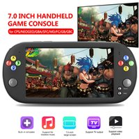 """X16 Portable Handheld Game Players for GBA NES Arcade Game Double Rocker 7.0"""" Screen MP5 Retro Mini Video Game Console HDMI"""