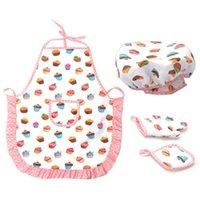 Фартуки 4 шт. Детские приготовления и выпечки набор входит фартук для маленьких девочек, шеф-повар, малыш одеваются