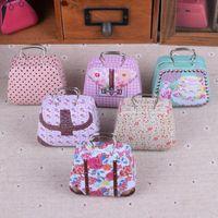 100pcs Mini sac à main Boîte Tin Accueil Câble Organisateur Boîte de rangement Zakka cadeau de mariage Bonbons Boîtes à bijoux conteneur thé