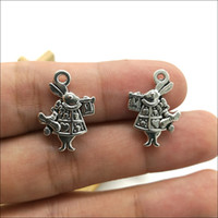 100pcs conejo de plata antiguo colgantes de los encantos joyería que hace DIY Llavero antiguo colgante de plata pendientes de la pulsera Para 20x14mm