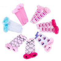 Baby filles jambe jambe chaude coiffe bow coton chaussettes de coton jauge hiver nouveau coton de haute qualité enfants chaussettes jambe anniversaire chaude S491