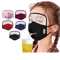 Göz kalkanı karşıtı toz yıkanabilir çocuklarla DHL'in fermuar yüz maskesi taşınabilir içecek ağız maskesi 5 renk çocuk parti maskeleri maske yüz