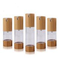 Экологические бамбуковые концы бутылки 15 мл 30 мл 50 мл пустой распылитель для духовных лосьон косметические контейнеры для ухода за кожей