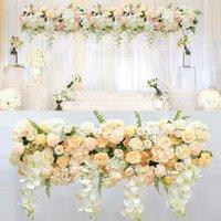 Decorative Flowers & Wreaths Silk Material Floral Backdrop Main Door Design Garden Wedding Arch