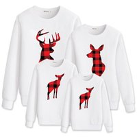 Matching Family Outfit Mommy And Me Father Son Baby Boys Clothing With Deer Printed Christmas Sweatshirt Girl T-shirt Children