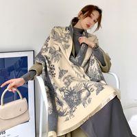 2020 Écharpe femmes Cachemire Lady étoles design Imprimer Châles chaud Femme et enveloppements épais Couverture réversible Echarpes