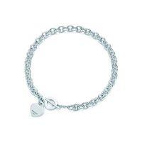 Herzförmige Kreuzschlüssel 925 Sterling Silber Halskette Armband Frau Schmuck Moderne Einfache Memorial Day Hochzeit Halskette