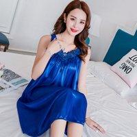 Sleepwear da donna Sexy Sexy Nightgowns Signore Lacci Long 2021 Summer Girls Senza Maniche Slipata Grande Dimensioni Home Service Nightdress 709