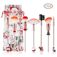 8Pcs set Makeup Brushes Set Foundation Blending Power Face Eye Brush Cosmetic Brushes Tool Kit Christmas shape