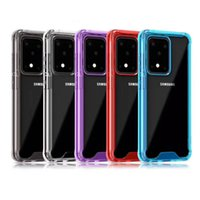Clear Acrylic Silicone Cases For iPhone 11 Pro Max 6 7 8Plus XS XR Samsung S10 S20 plus S105G Note 10