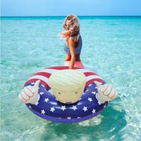 Anillo del flotador de la nadada de la bandera elecciones Trump Swim anillo inflable flotadores Espesar Círculo para adultos FY6078 envío de DHL verano fiesta en la piscina