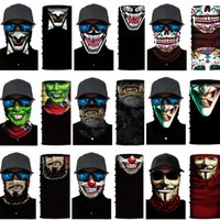 Unisex Head Face Máscara De Pescoço Posquia Bandana Scarf Scarf Pulseira Beanie Beanie Balaclava Headwear Multifuncional Party Masks FY713