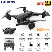 Laumox SG701 SG701S GPS 무인 항공기 5G WiFi FPV 4K HD 카메라 접이식 500M 제어 거리 50x 줌 rc 미니 쿼드 코터 E520S