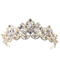 Crown Baroque Crystal Long-lasting Color Retention Firm Environmental Protection No Skin Damage Bridal Headwear Crown Wedding Accessories B