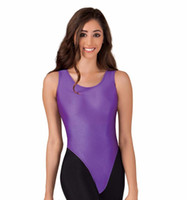Women's Nylon Lycra Tank Thong Leotard For Gymnastics Dance Leotards Girls Ballet Dance Tops Spandex Skin Tights Garment