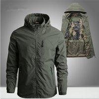 Herren Bomberjacke Military Tactical Wasserdichte Jacken mit Kapuze Mäntel Männer Outdoor Sports Quick Dry Jacke Leichte Mantel 5XL MG 01