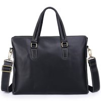 تصميم رجل الأعمال الشهير حقيبة اليد الأوروبية والأمريكية جلد البقر حقيبة جلدية حقيبة الذكور محمول على الكتف حقيبة قطري