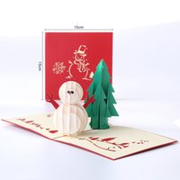 Creative Christmas Snowman Greeting Cards 3D Hollow Card for Kids Fashion Paper Cards Festive Party Supplies