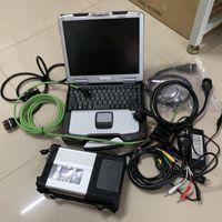 Super c5 estrela mb com SSD mais recente software em ferramenta de diagnóstico de alta qualidade CF30 laptop para carros e caminhões prontos para trabalhar